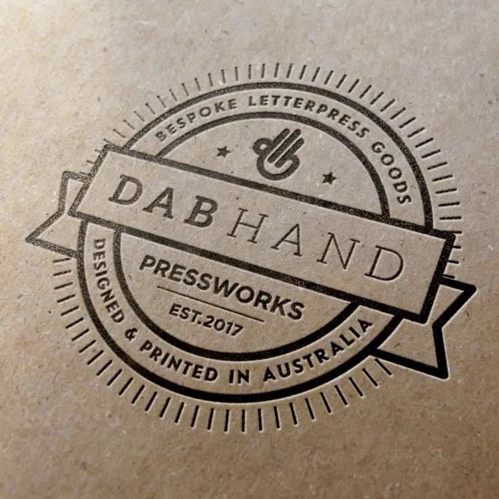 Dab Hand Letterpress Logo